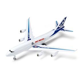 Самолёт инерционный «Лайнер», цвета МИКС