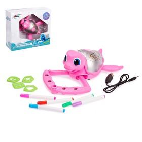 Обучающая игрушка «Рисующая черепаха», с фломастерами и трафаретами, цвета МИКС