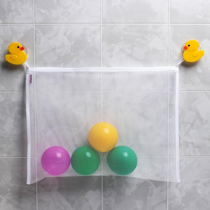 Сетка для хранения игрушек, на присосках