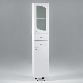 "Пенал на ножках ""Париж"" - 3662 со стеклом, 36 х 30 х 190 см"