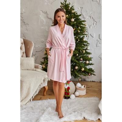 """Bathrobe womens KAFTAN """"Santa baby"""", pink, p 40-42"""