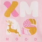 """Футболка детская KAFTAN """"X-mas"""" р.30 (98-104), розовый - фото 105704899"""