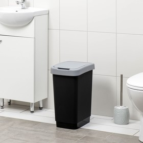 """Контейнер для мусора 25 л """"Твин"""", цвет серый - фото 4645408"""