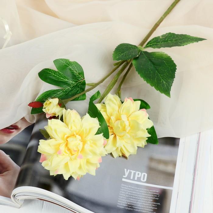 """Цветы искусственные """"Хризантема ажурная"""" 7*48 см, жёлтый - фото 4455606"""