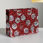 Пакет голографический вертикальный «Ёлочные шары», S 12 x 15 × 5,5 см