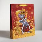 Пакет ламинированный вертикальный «Сырный король», L 31 × 40 × 9 см