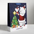 Пакет ламинированный вертикальный «Новогодние друзья», L 31 × 40 × 9 см