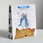 Пакет ламинированный вертикальный «Новогоднее веселье», ML 23 × 27 × 8 см