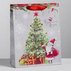 Пакет вертикальный крафтовый «Новогоднего чуда», 23 х 27 х 8 см