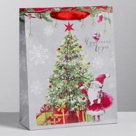 Пакет крафтовый вертикальный «Новогоднего чуда», 23 х 27 х 11,5 см