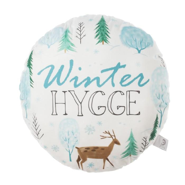 "Подушка ""Этель"" Winter hygge 100%п/э, велюр, 40х40 см"