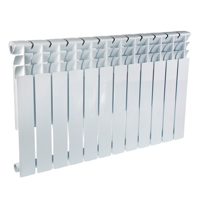 УЦЕНКА Радиатор алюминиевый Oasis, 500 х 80 мм, 12 секций