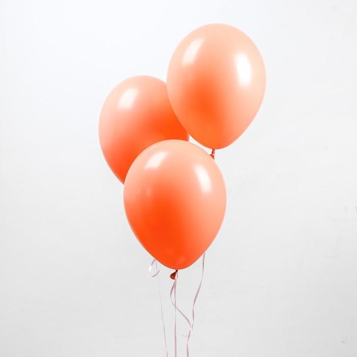 """Шар латексный 12"""", пастель, набор 100 шт., цвет персиковый"""