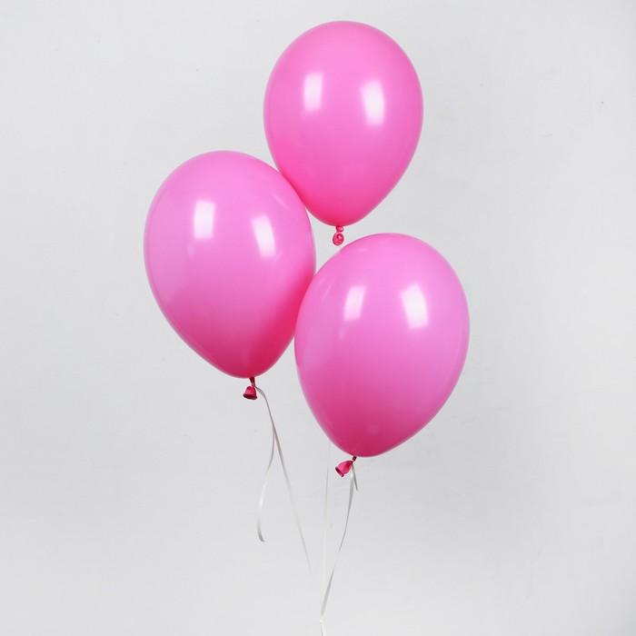 """Шар латексный 10"""", пастель, набор 50 шт., цвет розовый - фото 308470678"""
