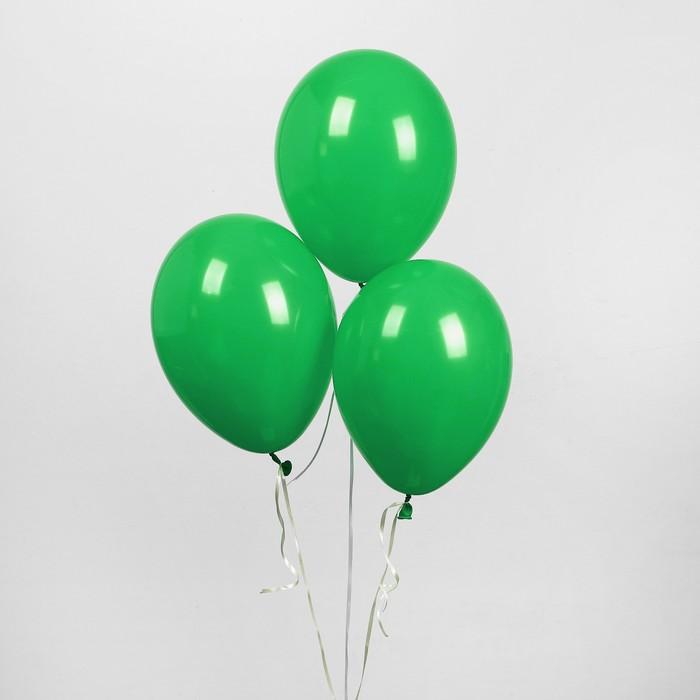 """Шар латексный 10"""", пастель, набор 50 шт., цвет зелёный - фото 308470690"""
