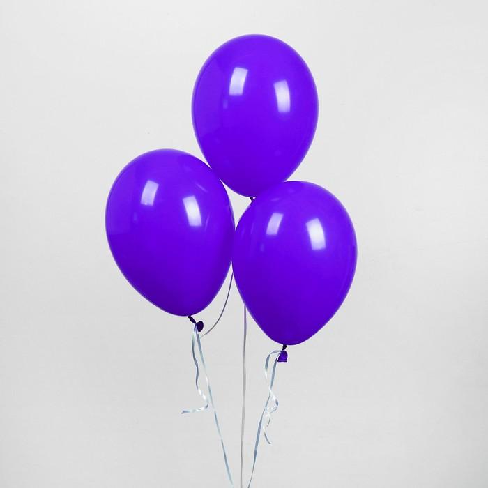 """Шар латексный 12"""", пастель, набор 25 шт., цвет фиолетовый"""