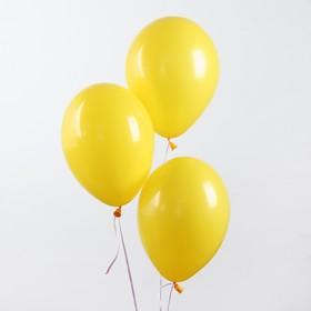 """Шар латексный 14"""", пастель, набор 25 шт., цвет жёлтый"""