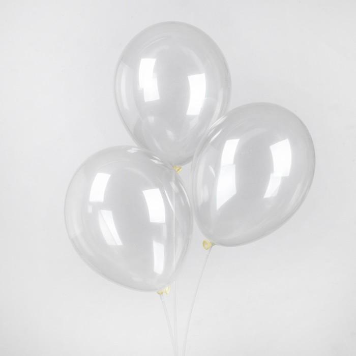 """Шар латексный 14"""", пастель, набор 25 шт., цвет прозрачный - фото 308470850"""