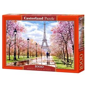 Пазл 1000 элементов «Романтическая прогулка по Парижу»