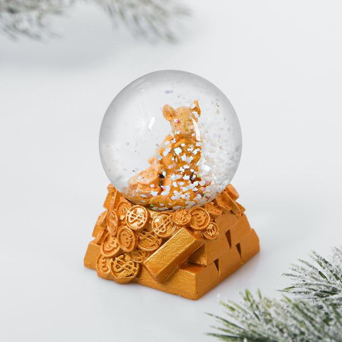 Снежный водяной шар «Золотые слитки»