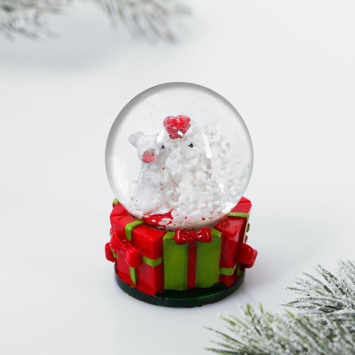 Снежный шар «Мышки любовь»