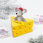 Копилка «Мышка в сыре», полистоун