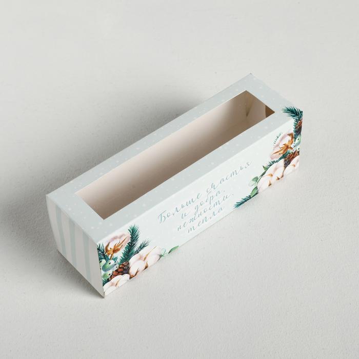 Коробочка для макарун Happy holidays, 18 × 5.5 × 5.5 см