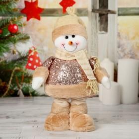 """Мягкая игрушка """"Снеговик в пайетках"""" стоит 15*41 см (в сложенном виде 30 см) в Донецке"""