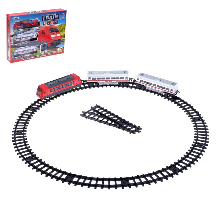 Железная дорога «Экспресс», работает от батареек, световые и звуковые эффекты