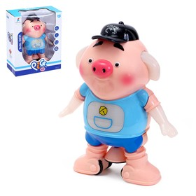 Животное «Свинка», работает от батареек, световые и звуковые эффекты, танцует