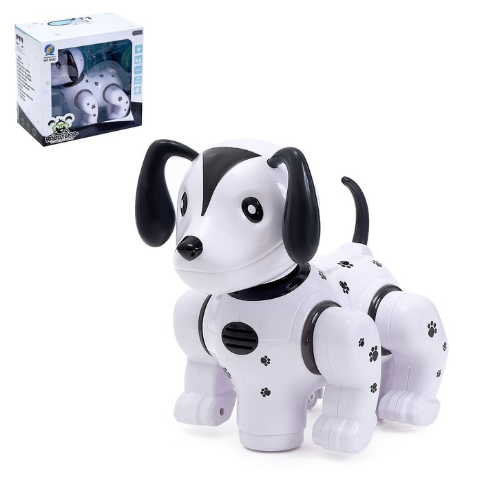 Игрушка-робот «Собака», работает от батареек, световые и звуковые эффекты, танцует