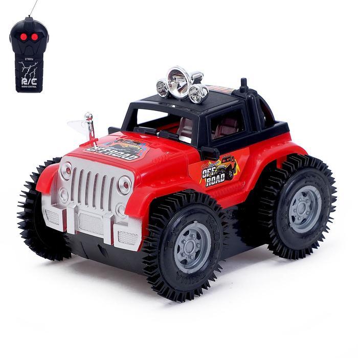 Машина-перевёртыш радиоуправляемая «Джип», работает от батареек, цвета МИКС