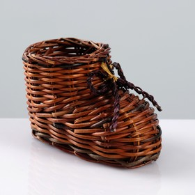 """Souvenir """"Boot"""", 10×7 cm, vine"""