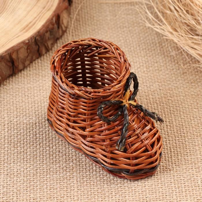 Сувенир «Ботинок», 10×7 см, лоза