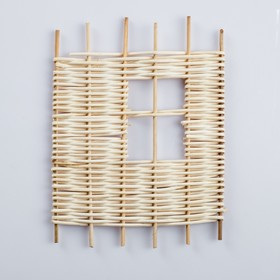 Fence decorative, 22×18 cm, rattan