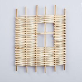 Заборчик декоративный, 22×18 см, ротанг Ош