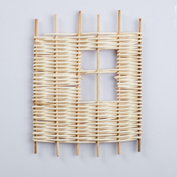 Заборчик декоративный, 22×18 см, ротанг
