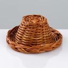 Шляпка, 8×4 см, ива