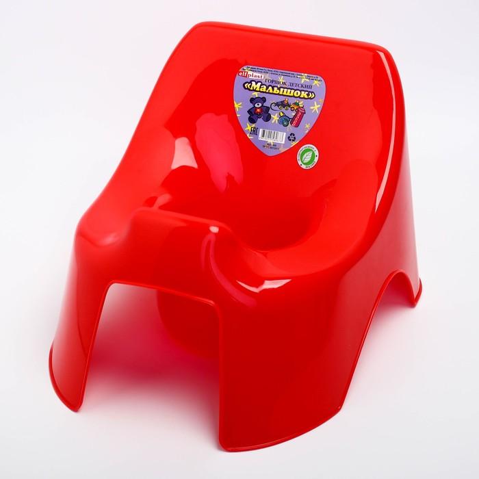 Горшок туалетный детский «Малышок», цвет красный - фото 107009615