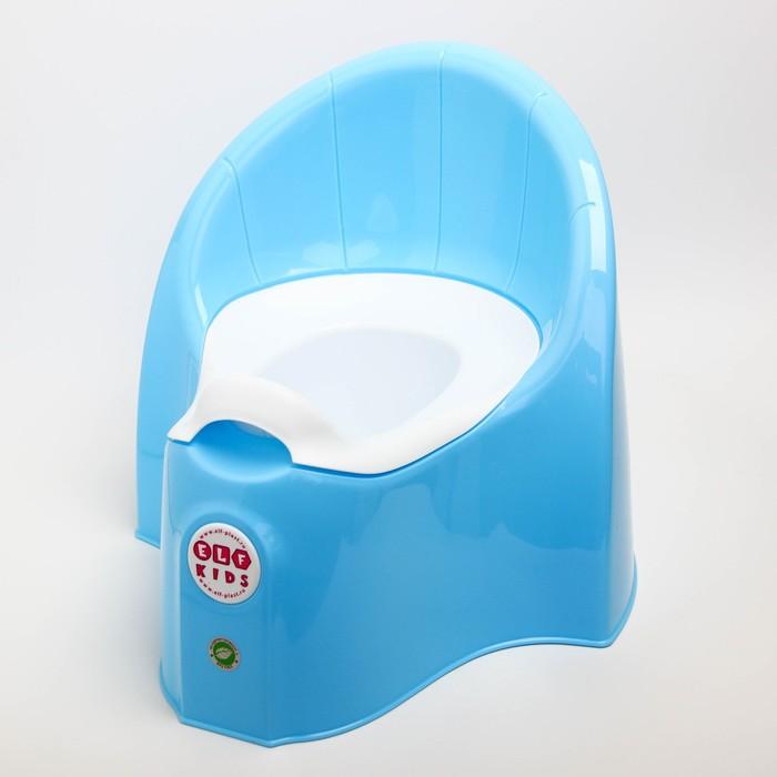 """Горшок детский """"Junior"""" со съемной чашей,цвет голубой"""