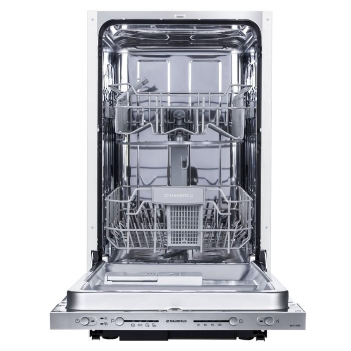 Посудомоечная машина Maunfeld MLP-08S, класс A++, 9 комплектов, 5 режимов, серебристая