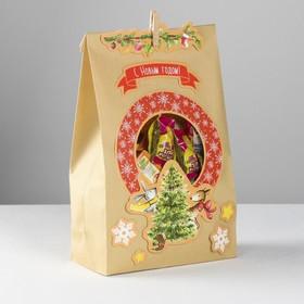 Пакет подарочный «Новогодний переполох», набор для создания, 15.5 × 28.5 см