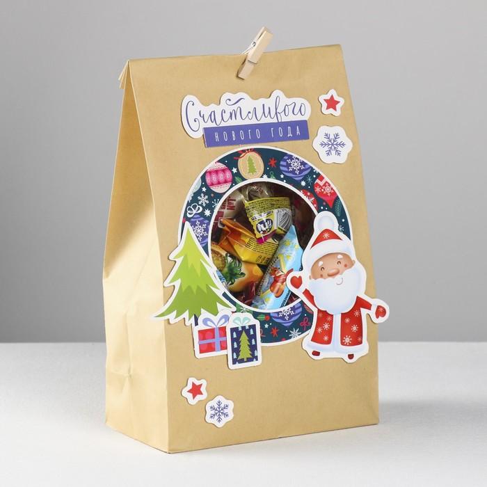 Пакет подарочный «Новогодняя пора», набор для создания, 15.5 × 28.5 см