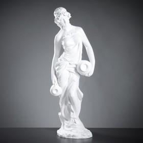 """Фигура """"Девушка с двумя кувшинами большая"""" белая, 32×43×116см"""