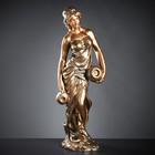 """Фигура """"Девушка с двумя кувшинами большая"""" бронза, 34×44×120 см"""