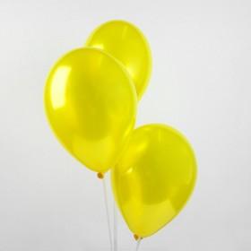 """Шар латексный 12"""", металл, набор 25 шт., цвет жёлтый"""