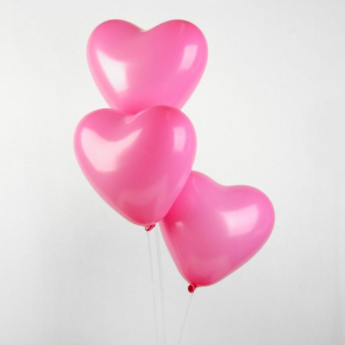 """Шар латексный 12"""", сердце, пастель, набор 25 шт., цвет розовый - фото 7639645"""
