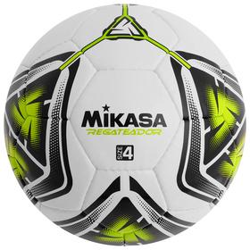 Мяч футбольный MIKASA REGATEADOR5-G, размер 4, PVC, ручная сшивка, 32 панели, 3 подслоя