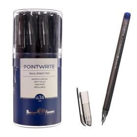 Ручка шариковая PointWrite. Ice, узел 0.38 мм, синие чернила, матовый корпус Silk Touch