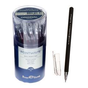 Ручка шариковая PointWrite Original, узел 0.38 мм, синие чернила, матовый корпус Silk Touch, МИКС